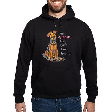 Airedale Terrier Lover Hoodie (dark)