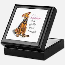Airedale Terrier Lover Keepsake Box
