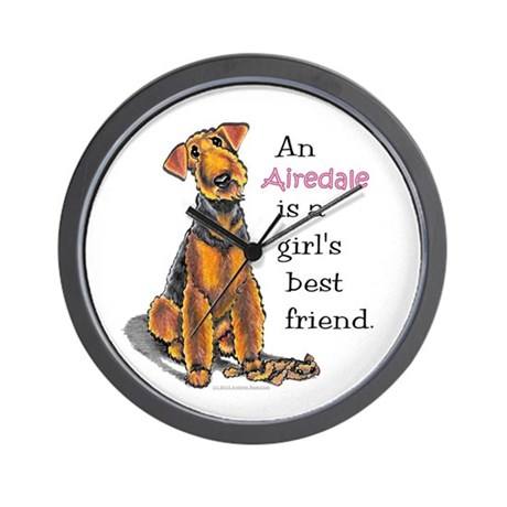 Airedale Terrier Lover Wall Clock
