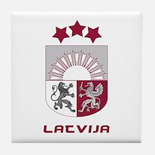 Latvia (Latvija) Crest Tile Coaster