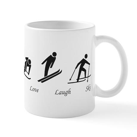 Live Love Laugh Ski Mug
