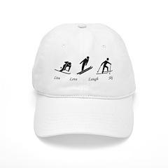 Live Love Laugh Ski Baseball Cap