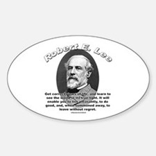 Robert E. Lee 01 Oval Decal