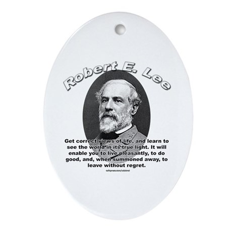 Robert E. Lee 01 Oval Ornament