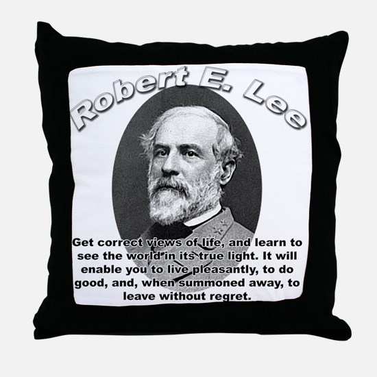 Robert E. Lee 01 Throw Pillow