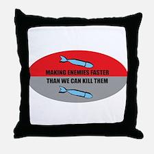 Making Enemies Throw Pillow