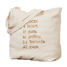 4 8 15 16 23 42 Names Tote Bag