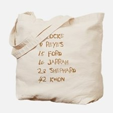 4 8 15 16 23 42 Names Tote Bag
