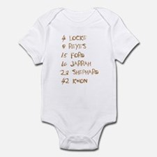 4 8 15 16 23 42 Names Infant Bodysuit