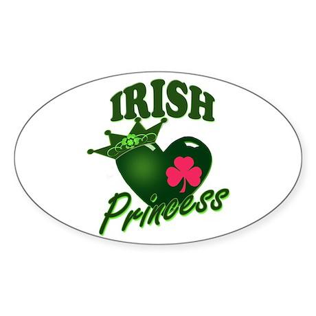 Irish Princess Sticker (Oval)