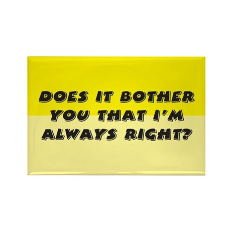 Does it bother you? Rectangle Magnet (100 pack)
