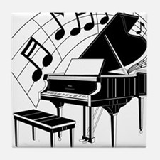 Grand Piano Notes Tile Coaster