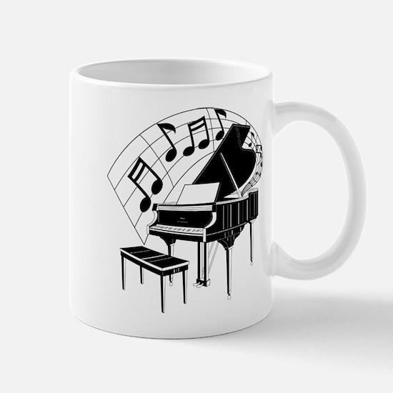 Grand Piano Notes Mug