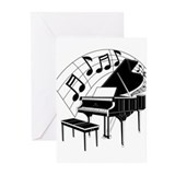 Piano Greeting Cards (10 Pack)