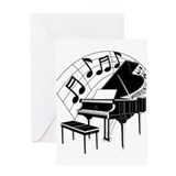 Piano Greeting Cards