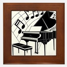 Grand Piano Notes Framed Tile