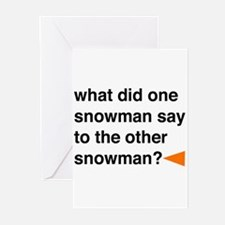 Snowman Joke Greeting Cards (Pk of 20)
