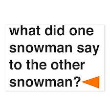Snowman Joke Postcards (Package of 8)