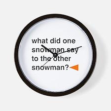 Snowman Joke Wall Clock