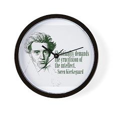 Kierkegaard on Christianity Wall Clock