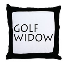 GOLF WIDOW Throw Pillow