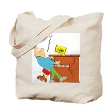 Cartoon Pianist Tote Bag