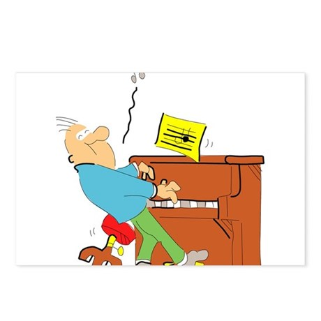 Cartoon Pianist Postcards (Package of 8)