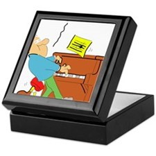 Cartoon Pianist Keepsake Box
