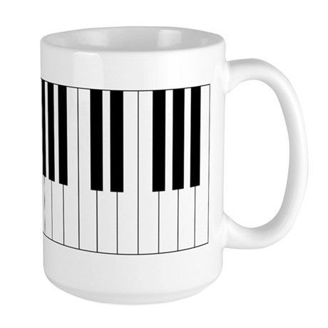 Piano Keys Large Mug