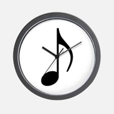 Traditional Basic Black Note Wall Clock