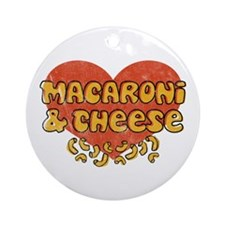 Macaroni & Cheese Ornament (Round)