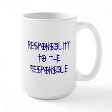 Responsibility Tall Mug (Blue)