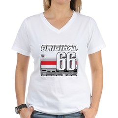 Musclecar 66 H Women's V-Neck T-Shirt