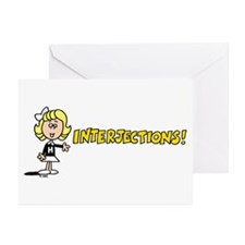 Interjections Greeting Cards (Pk of 10)