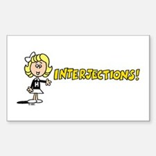 Interjections Decal