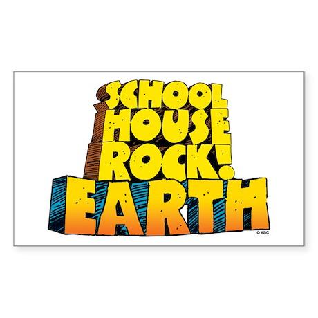 Schoolhouse Rock! Earth Sticker (Rectangle)