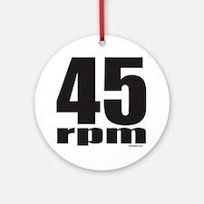 45 RPM Ornament (Round)