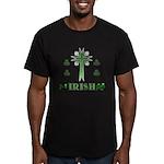 Irish Cross Men's Fitted T-Shirt (dark)