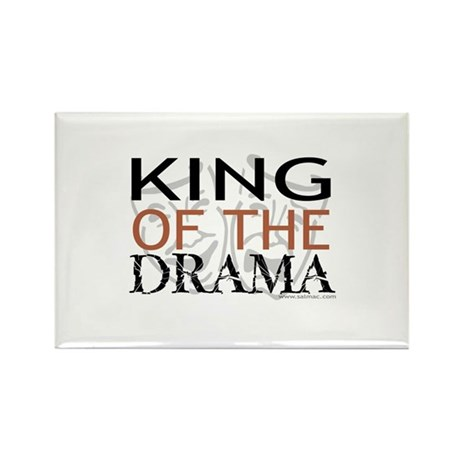 """""""King of the Drama"""" Rectangle Magnet (100 pack)"""