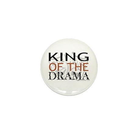 """King of the Drama"" Mini Button"
