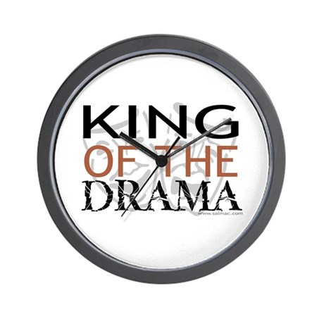 """King of the Drama"" Wall Clock"