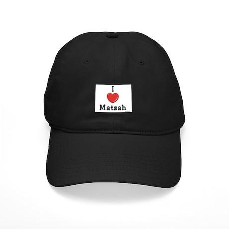 I Love Matzah Passover Black Cap