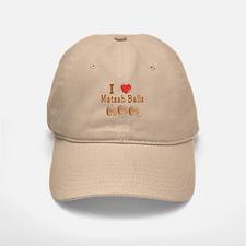 I Love Matzah Balls Passover Baseball Baseball Cap