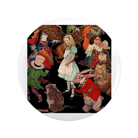 """Alice and Friends 3.5"""" Button"""