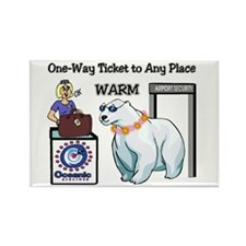 Any Place--- Warm Rectangle Magnet