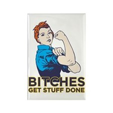 Bitches Rectangle Magnet (10 pack)