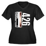 MOTOR V426 Women's Plus Size V-Neck Dark T-Shirt
