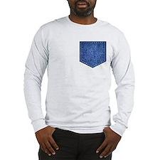 Faux Denim Pocket Long Sleeve T-Shirt