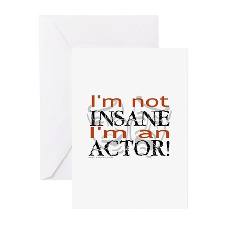 Insane Actor Greeting Cards (Pk of 10)
