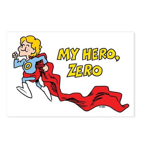 My Hero, Zero Postcards (Package of 8) by SchoolhouseRock